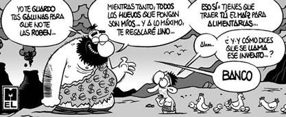 nacimiento origen bancos (humor)